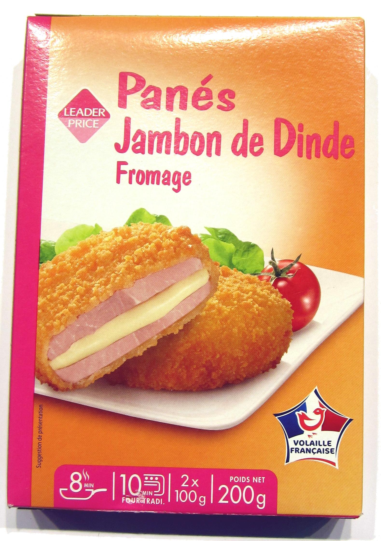 Croquette De Jambon Au Four panés de jambon de dinde au fromage - leader price - 200 g