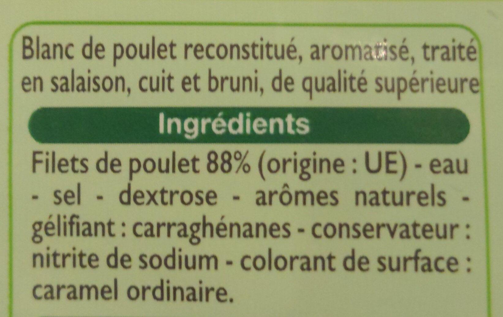 Blanc de Poulet (4 Tranches) - Ingrédients - fr
