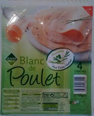 Blanc de Poulet, Recette Aux Fines Herbes (4 Tranches) - Product - fr