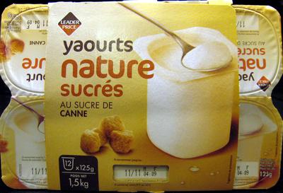 Yaourts nature sucrés Au Sucre de Canne - Product - fr