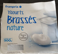 Franprix yaourt brassé nature - Produit - fr