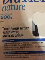 Franprix yaourt brassé nature - Ingrédients - fr