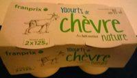 Yaourts de chèvre nature - Product