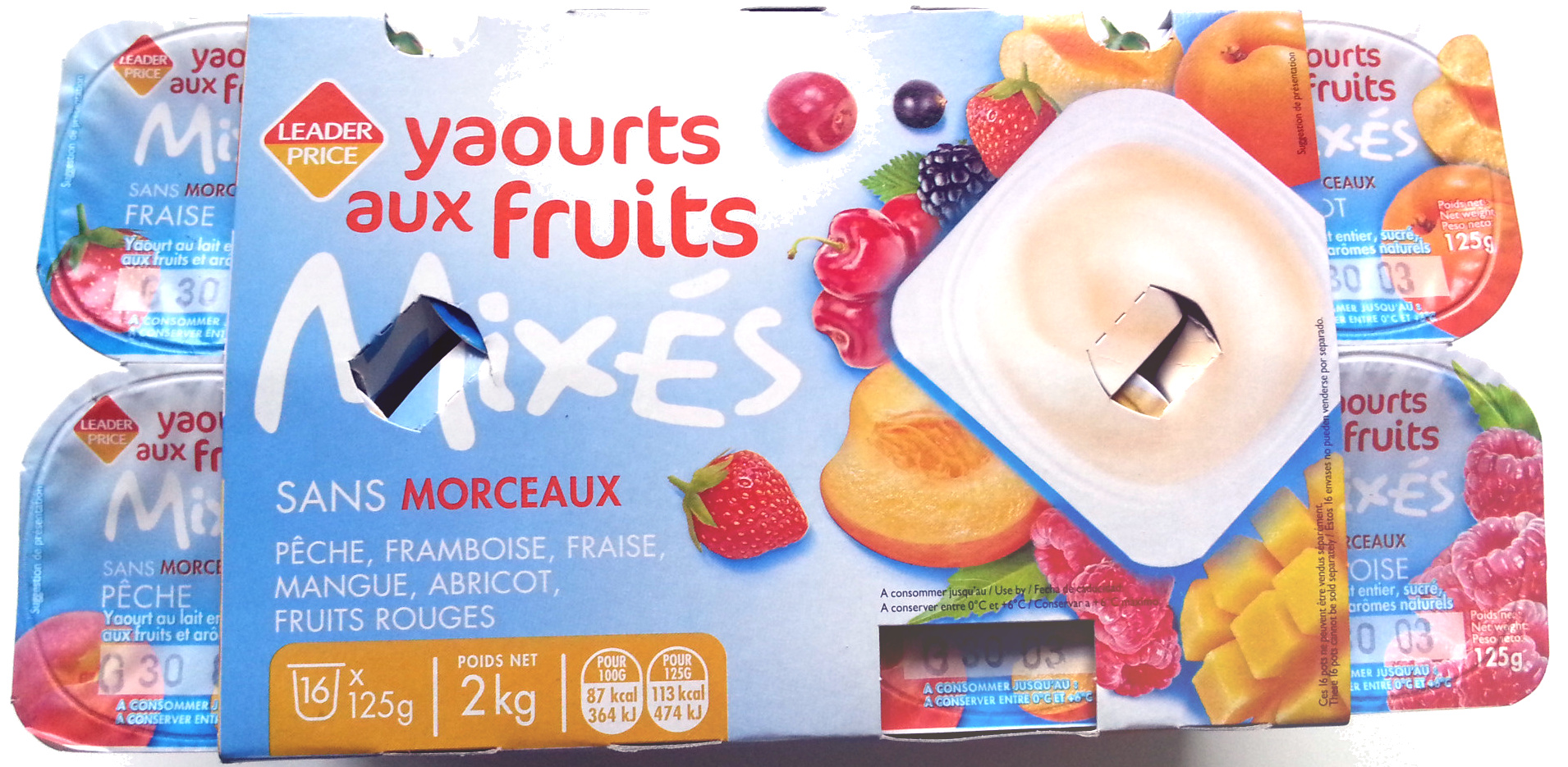 Yaourts aux fruits Mixés - Sans Morceaux - Product - fr