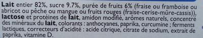 Yaourts aux fruits Mixés - Sans Morceaux - Ingredients - fr
