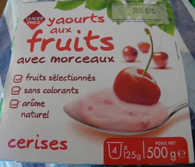 Yaourts aux fruits avec morceaux Cerises - Product - fr