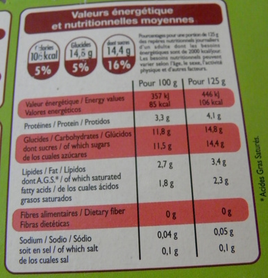 Yaourts aux fruits avec morceaux Cerises - Voedingswaarden - fr