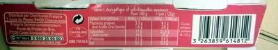 2 yaourts sur lit de framboise - Informations nutritionnelles