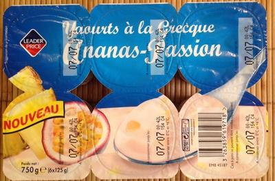 Yaourts à la Grecque Ananas-Passion - Product - fr
