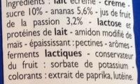 Yaourts à la Grecque Ananas-Passion - Ingrediënten - fr