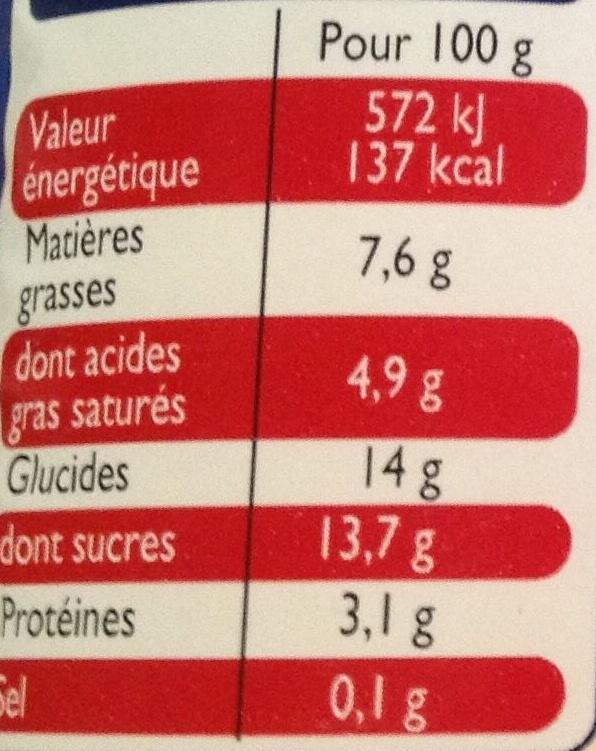 Yaourts à la Grecque Ananas-Passion - Voedingswaarden - fr