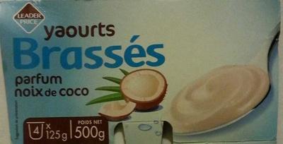 Yaourts Brassés parfum noix de coco - Produit - fr
