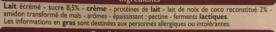 Yaourts Brassés parfum noix de coco - Ingrédients - fr