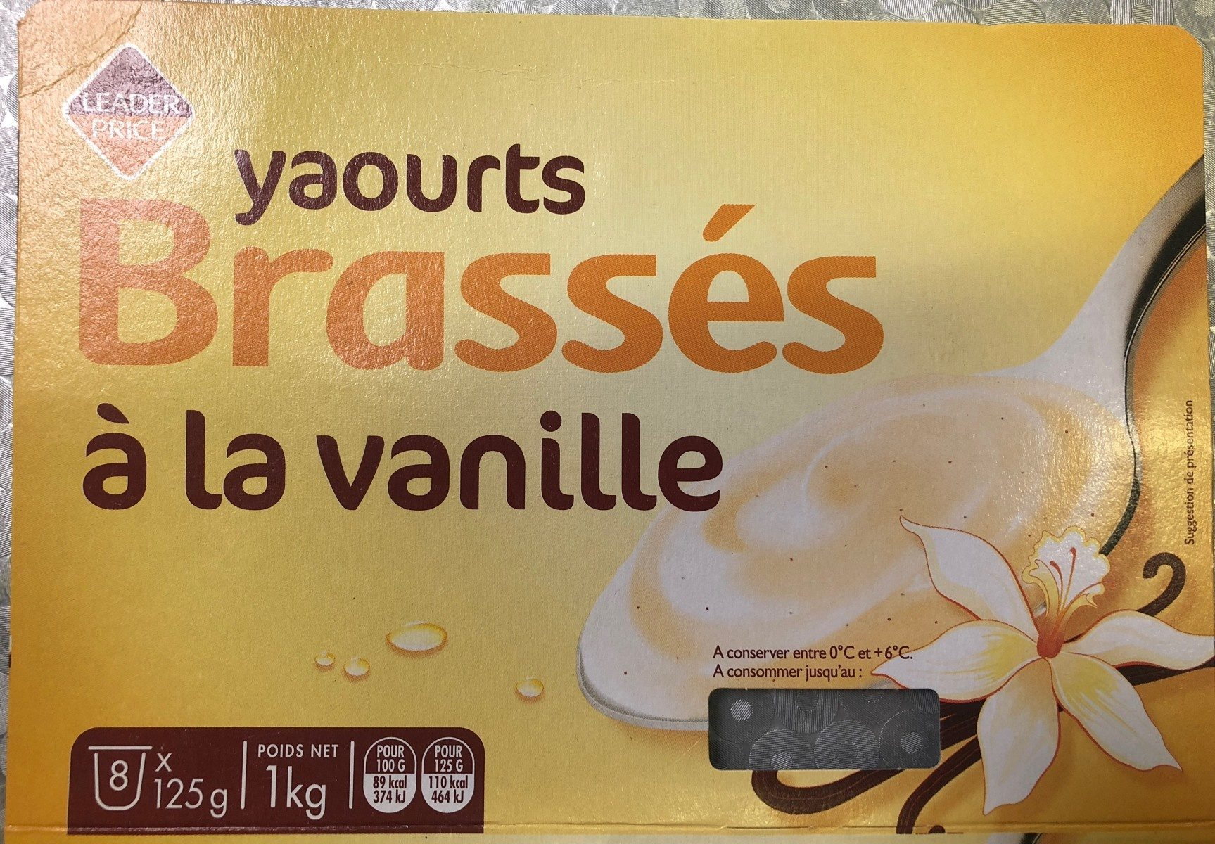 Yaourts Brassés vanille - Product