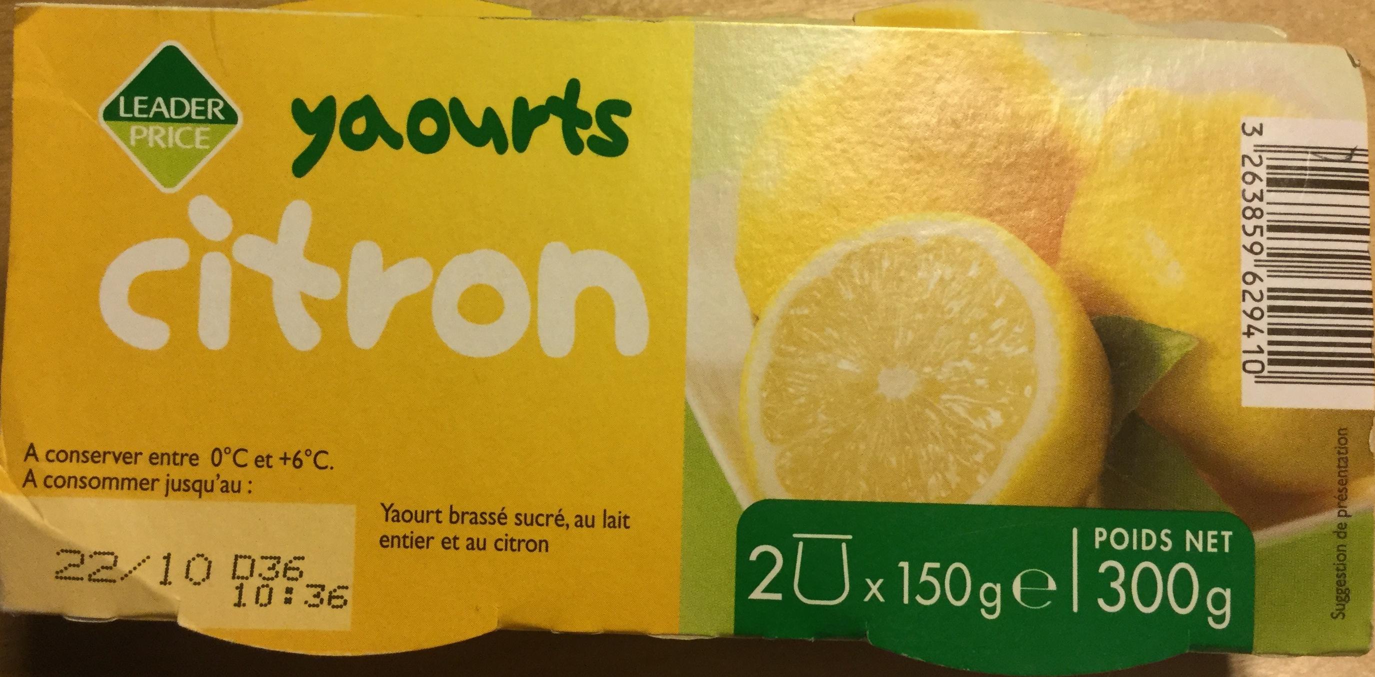 Yaourts Citron - Produit - fr