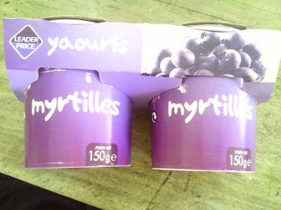 Yaourts myrtilles - Produit - fr