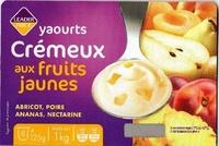 Yaourts Crémeux aux fruits jaunes (Abricot, Poire, Ananas, Nectarine) 8 Pots - Product - fr