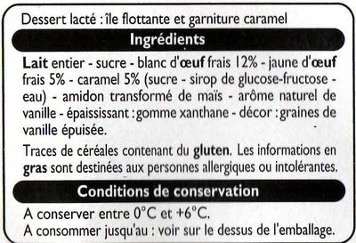 Ile flottante aux oeufs frais - Ingrédients - fr