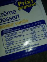Crème dessert saveur vanille - Ingrediënten - en
