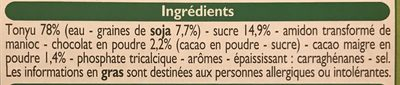 Specialite au soja - Ingrediënten - fr