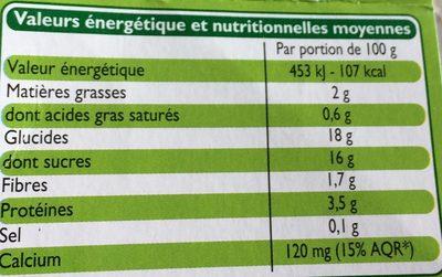 Specialite au soja - Voedingswaarden - fr