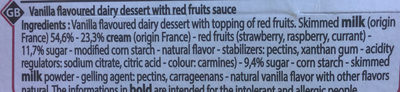 Panna cotta sur lit de fruits rouges - Ingredients - en