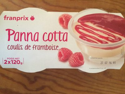 Panna cotta coulis framboise - Product - fr