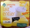 Yaourts au lait entier saveur citron - Product