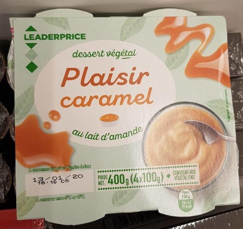 Dessert végétal Plaisir caramel - Produit - fr
