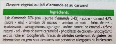Dessert végétal Plaisir caramel - Ingrédients - fr