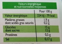 Dessert végétal Plaisir caramel - Informations nutritionnelles - fr