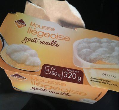 Mousse liègeoise, goût vanille - Product - fr