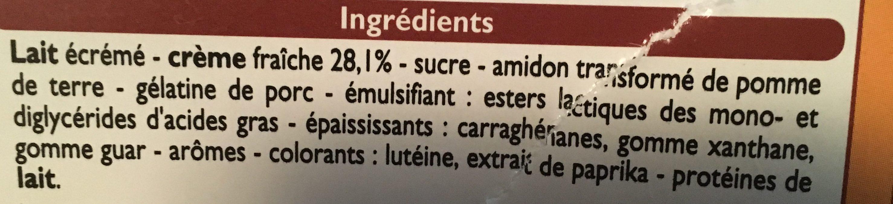 Mousse liègeoise, goût vanille - Ingrediënten - fr