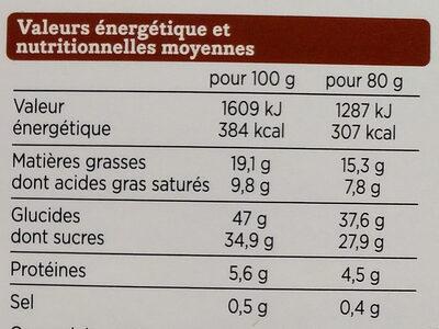 2 Tartelettes Caramel Beurre Salé - Voedingswaarden - fr