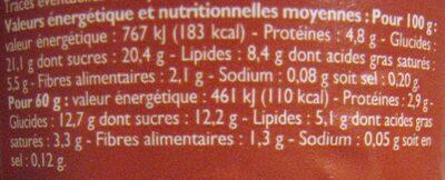 Mousse au chocolat au lait Leader Price - Nutrition facts - fr