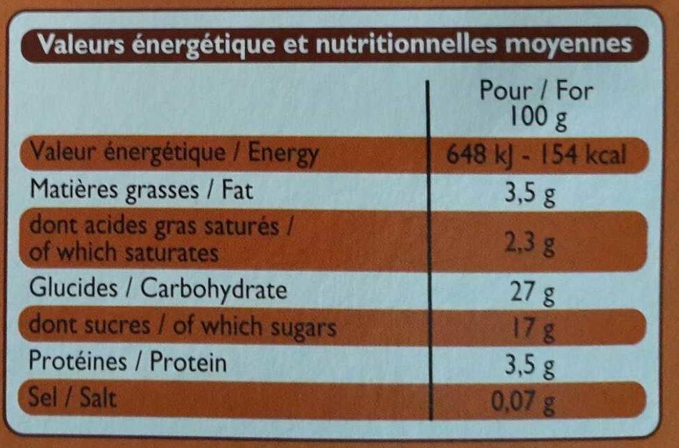 Gâteau De Riz Sur Lit De Caramel - Nutrition facts