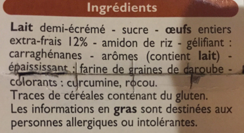 Flan cuit et doré au four - Ingrédients - fr