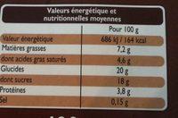 Petits Pots à la Crème Cuits au four Chocolat - Voedigswaarden