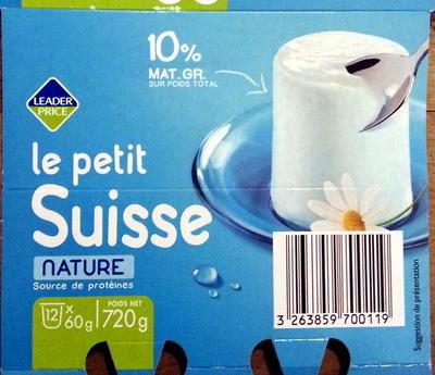 Le petit Suisse, nature (10 % MG) - Product - fr