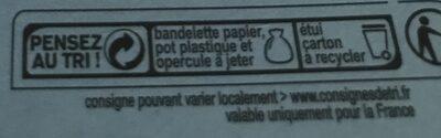 Le Petit frais nature - Istruzioni per il riciclaggio e/o informazioni sull'imballaggio - fr