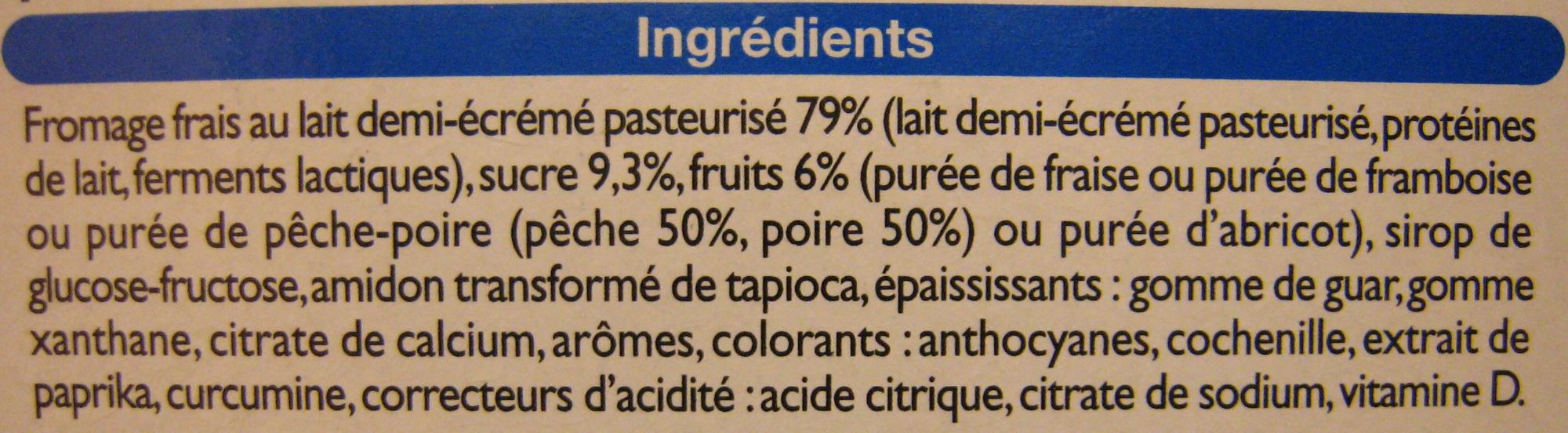 Kids Fromages frais aux fruits (3,3 % MG) - Ingrédients - fr