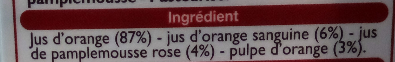 Pur Jus 3 Agrumes - Ingredients - fr