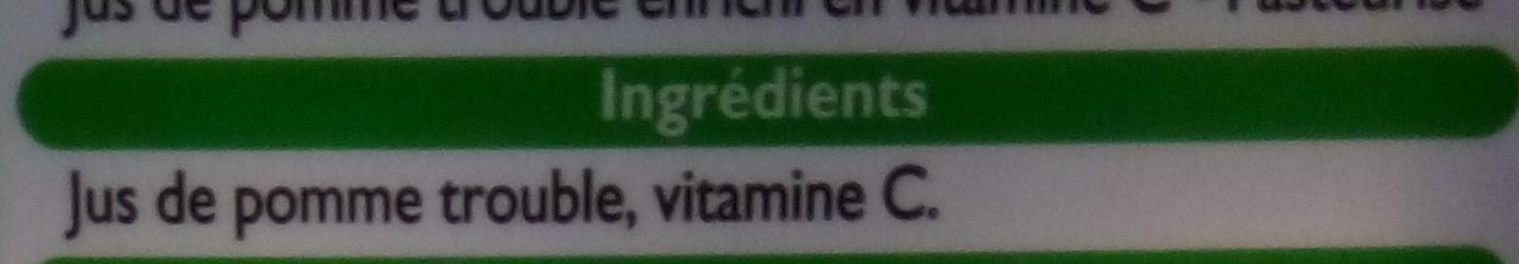 Jus de pomme trouble - Ingredients - fr