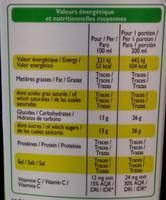 Jus de pomme trouble - Nutrition facts - fr