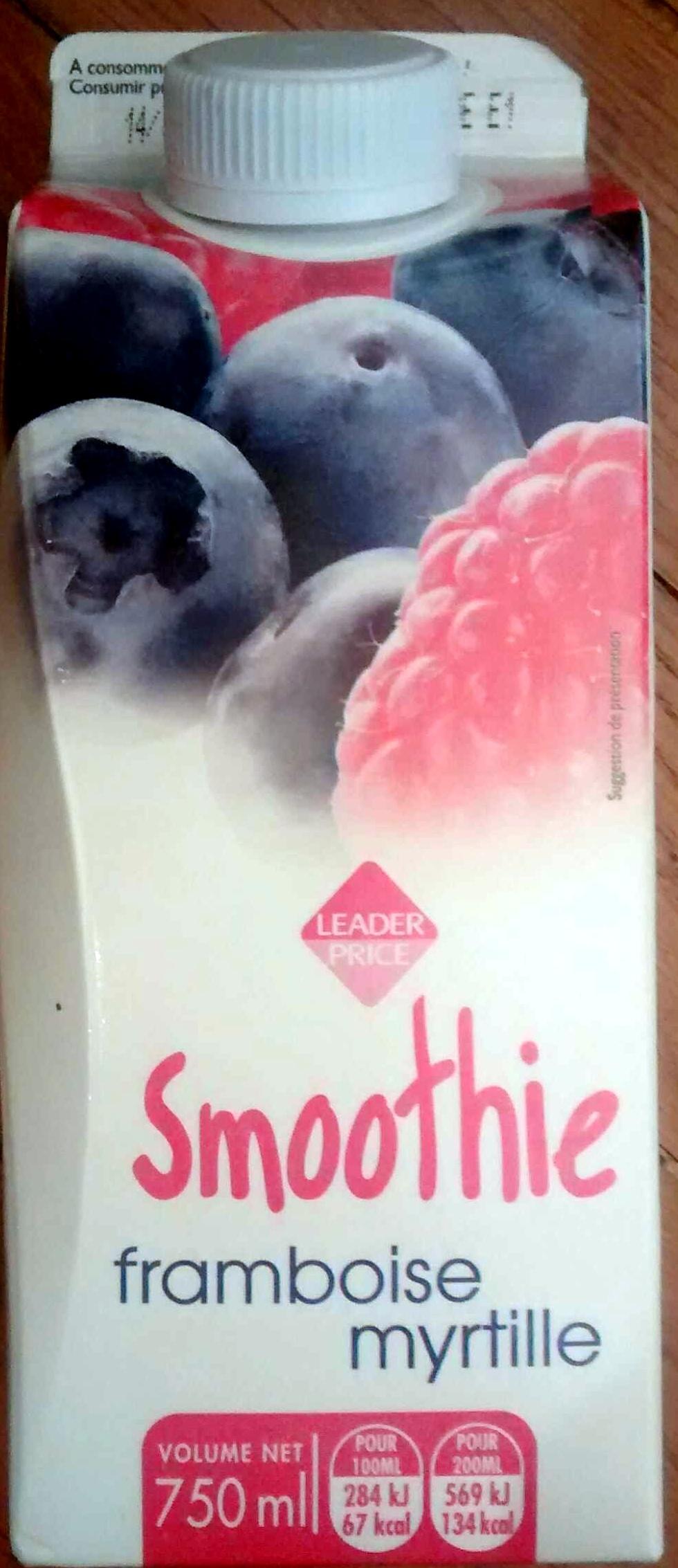 Smoothie framboise myrtille - Produit - fr