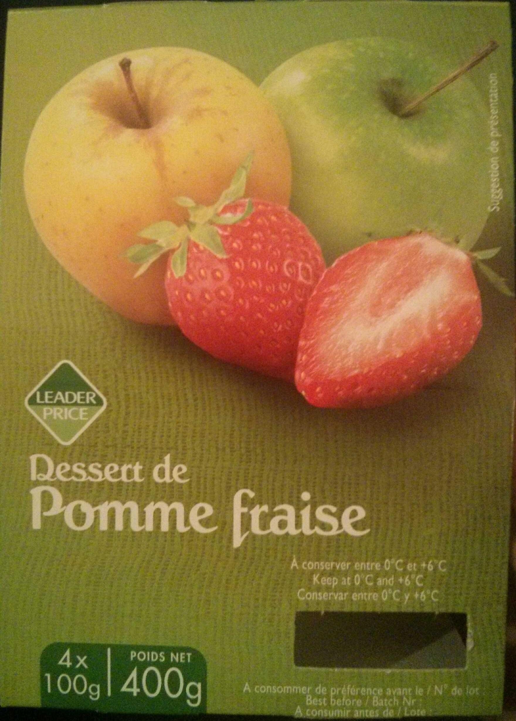 Dessert de pomme fraise - Produkt