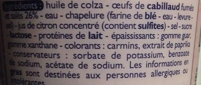 Tarama - Ingrediënten