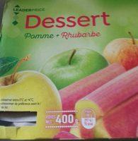 Dessert pomme rhubarbe - Produit - fr