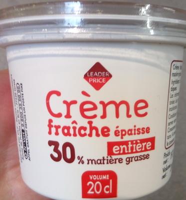Crème fraîche épaisse entière (30 % MG) - Produit