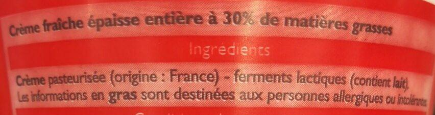 Crème fraîche épaisse - Ingredients - fr